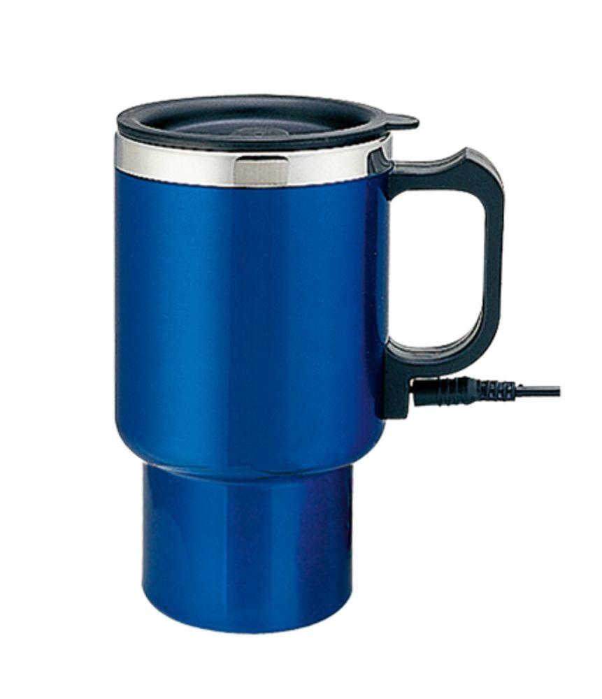 Электрическая термокружка, синяя, от прикуривателя