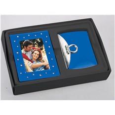 Подарочный набор из фоторамки со стразами и зеркала