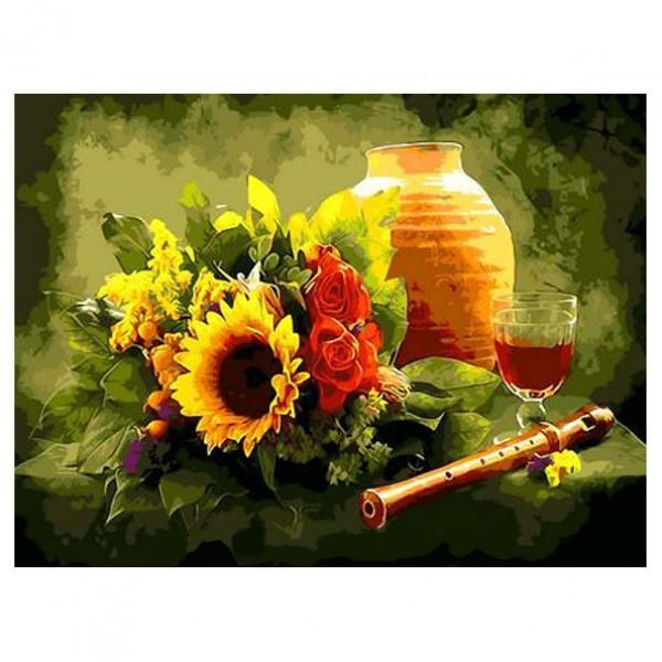 Картина-раскраска по номерам на холсте Флейта