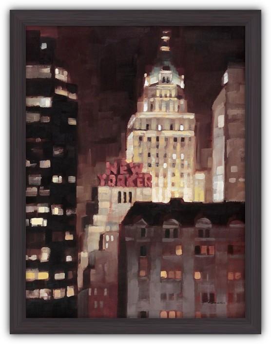Картина (репродукция) Освещенный Манхеттен (Небоскребы Нью Йорка)