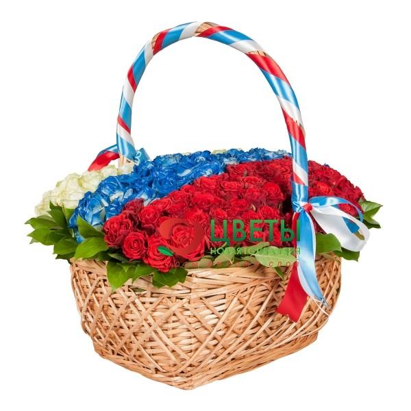Букет цветов Триколор