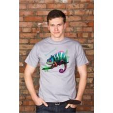 Мужская футболка с вашим текстом Хамелеон