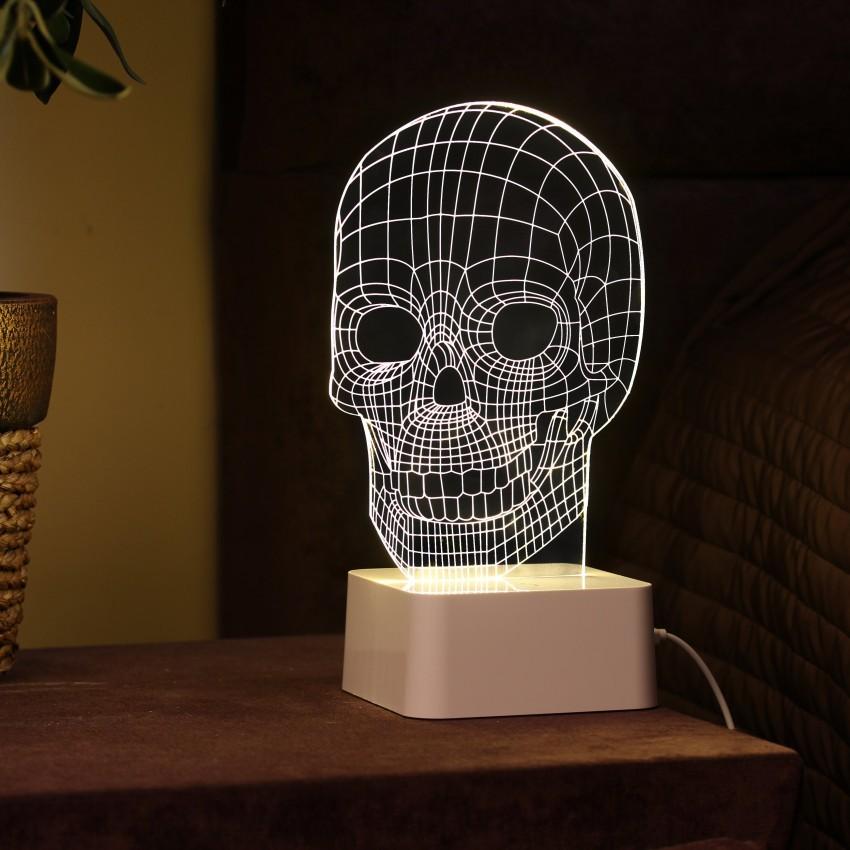3D светильник с сенсорной панелью Череп. Бедный Йорик