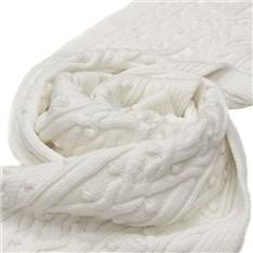 Белый шерстяной шарф Valentino