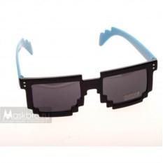 Пиксельные очки с синими дужками