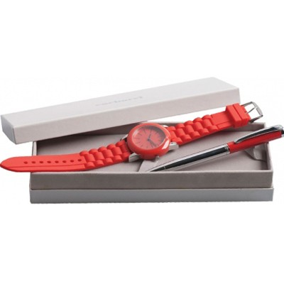 Набор (часы наручные, ручка шариковая)