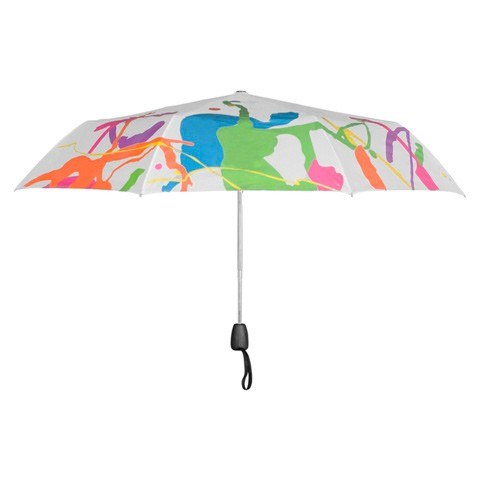 Зонт-хамелеон складной «Неон белый»