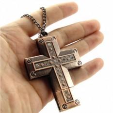 Флешка Крест со стразами