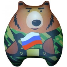 Игрушка-подушка антистресс Мишаня (цвет: хаки)