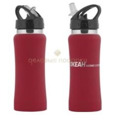 Спортивная бутылка с прорезиненной поверхностью