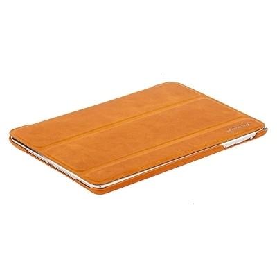 Кожаный чехол Borofone general leather case (оранжевый)