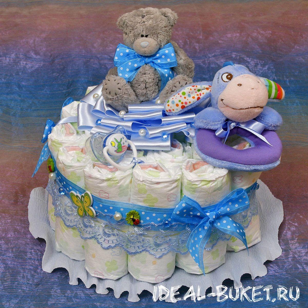 Торт из памперсов Малыш - мини