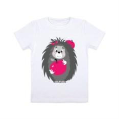 Детская футболка Ёжик с яблоком