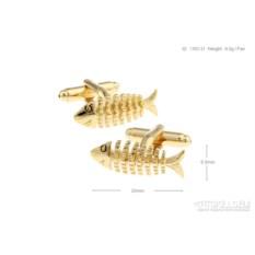 Запонки «Рыба скелет»