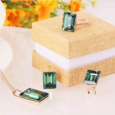 Комплект «Оазис» с зелеными кристаллами Сваровски
