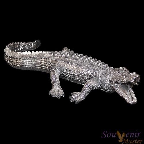 Скульптура Крокодил, серебро