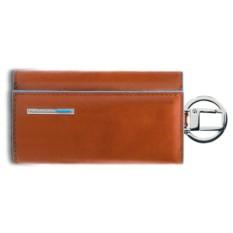 Оранжевый футляр для ключей Piquadro Blue Square