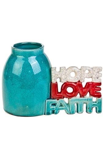 Ваза декоративная Вера, надежда, любовь