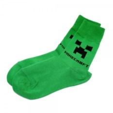 Эксклюзивные дизайнерские носки Крипер из Майнкрафт