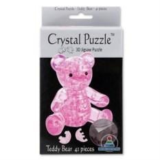3D-головоломка Crystal Puzzle «Розовый мишка» из 41 детали