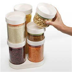 Набор емкостей для хранения Food Store™ Carousel, белый