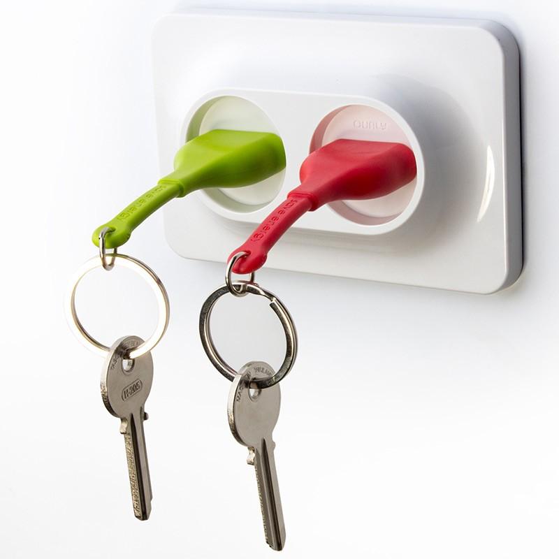 Двойной брелок+держатель для ключа Unplug