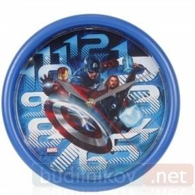 Детские настенные часы Мстители, синие