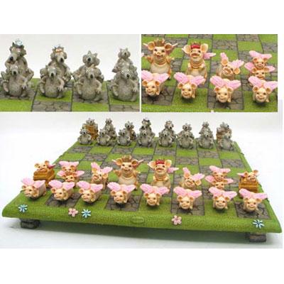 Весёлые шахматы «Хрюшки и Волки»