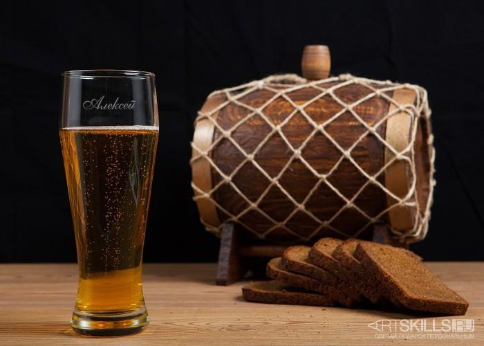 Бокал для пива с гравировкой
