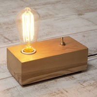 Подставка под ретро-лампу с резистором
