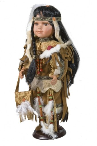 Фарфоровая кукла Индианка
