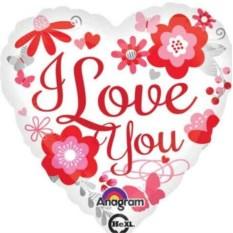 Шар-сердце I LOVE YOU (белый)