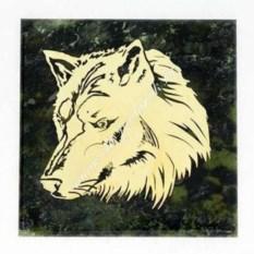 Магнит из змеевика Волк
