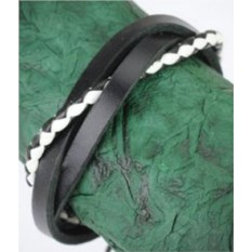 Кожаный браслет Black & White