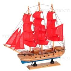 Корабль Confection с алыми парусами, длина 33см