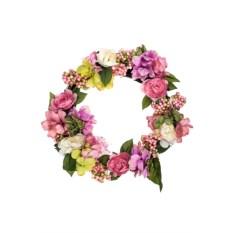 Украшение для интерьера Венок из гортензии и розы