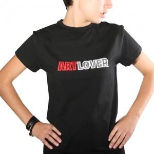 Футболка Art lover черная женская