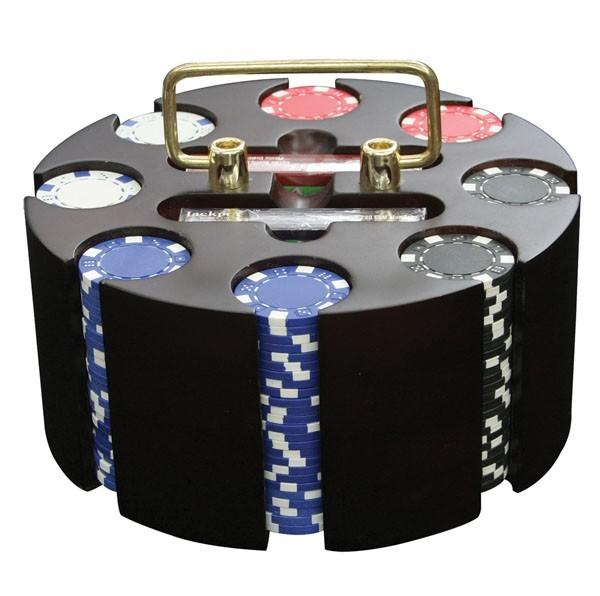 Набор для покера с вращающейся подставкой, 200 фишек, 11,5 г
