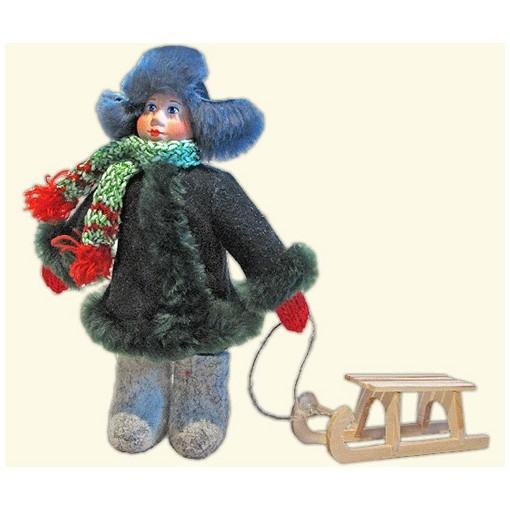 Кукла «Мальчик с санками»