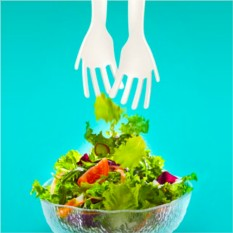 Набор ложек для салата Руки