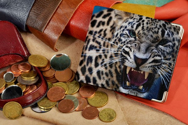 Портмоне  Сердитый леопард
