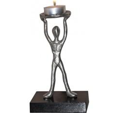 Скульптура - подсвечник Пламя победы