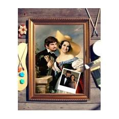 Парный портрет по фото Признание в любви