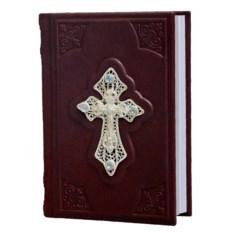 Книга Православный молитвослов в переплете из кожи