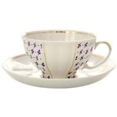 Фарфоровый чайный сервиз на 6 персон Ситец