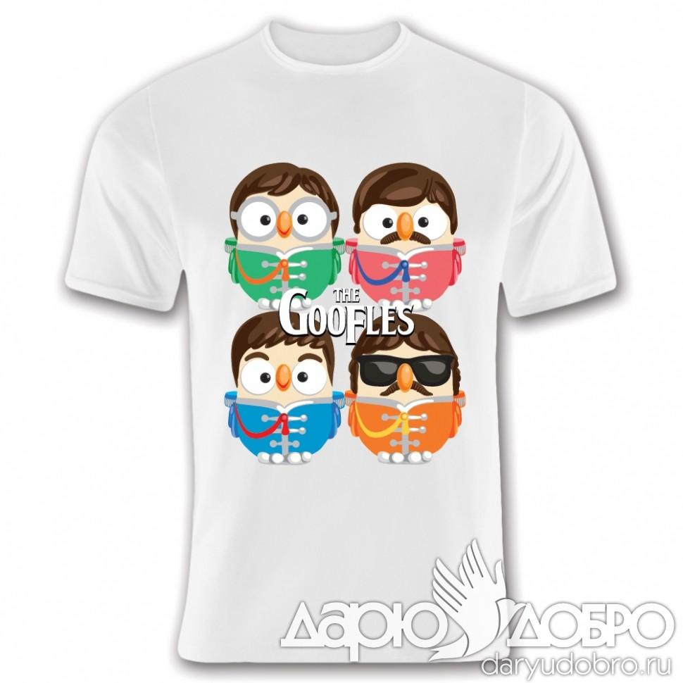 Мужская футболка с совами Goofles Goofi