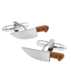Запонки Нож в именной коробке с гравировкой