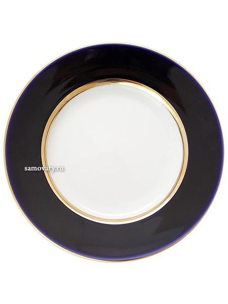 Плоская фарфоровая тарелка Ночь
