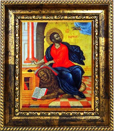 Марк Святой апостол и евангелист. Икона на холсте