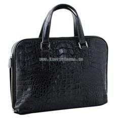 Мужская сумка для планшета или ноутбука из кожи крокодила